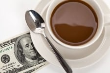 Coffee and dollar