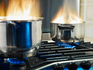 Kitchen Fire, Cooking fire, Cooking safety, fire safety