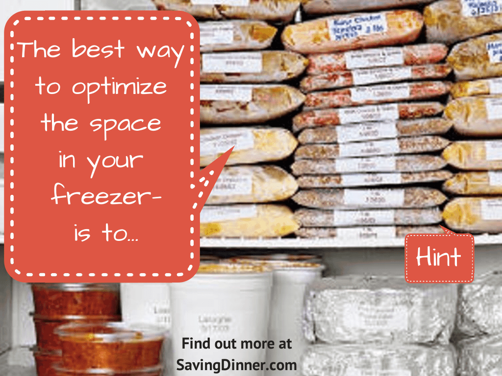 Brand-new How to optimize freezer space - Saving Dinner CU77