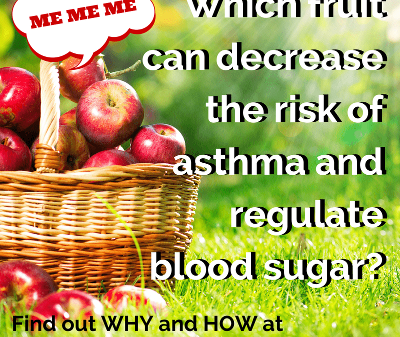 Which fruit can decrease the risk of asthma and regulate blood sugar?