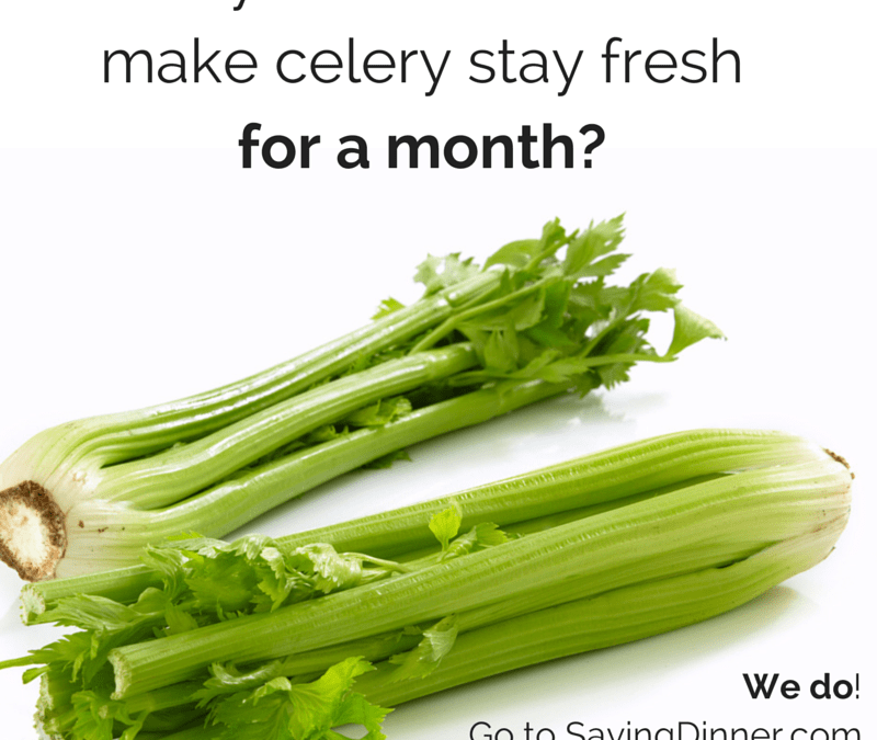 Keep Celery Fresh for a Month!