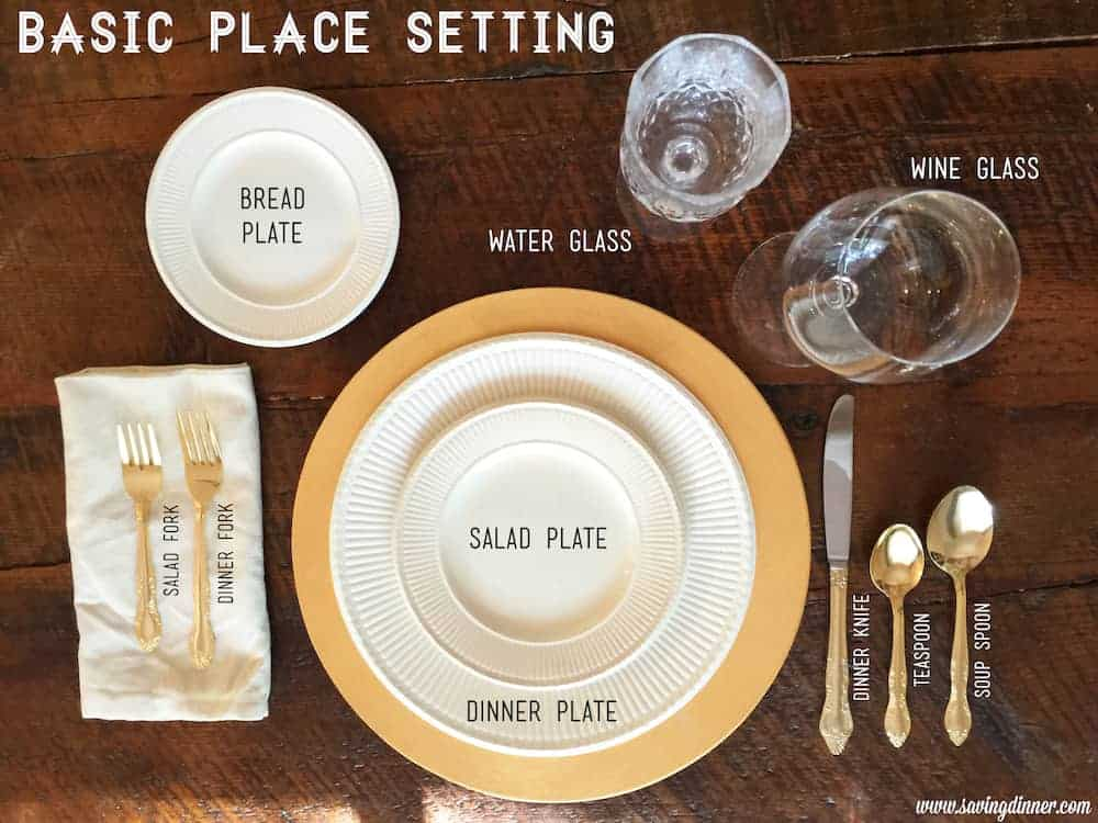 The Perfect Thanksgiving Table Setting & The Perfect Thanksgiving Table Setting - Saving Dinner