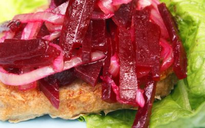 Chicken Burgers with Pickled Beets