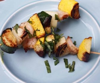 Zesty Shrimp & Squash Kabobs