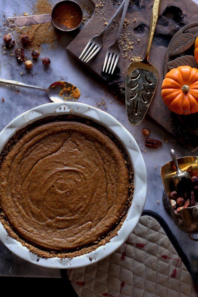 Paleo Tahini Pumpkin Pie