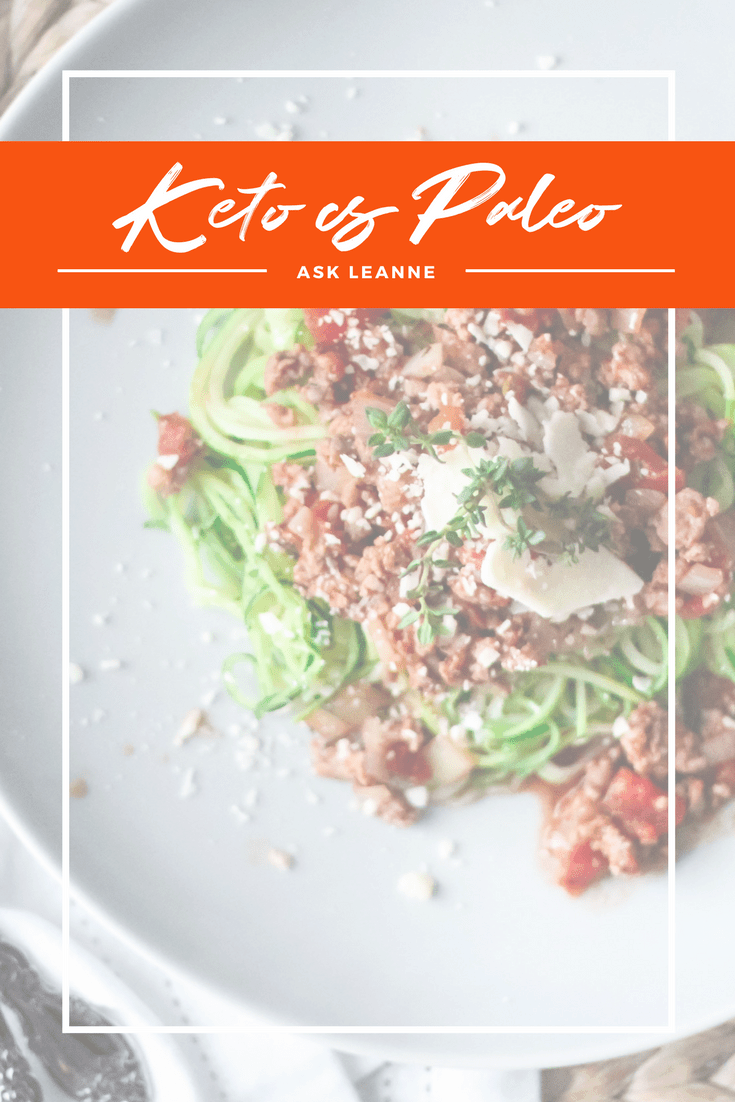 Ask Leanne: What's the difference between Keto and Paleo?