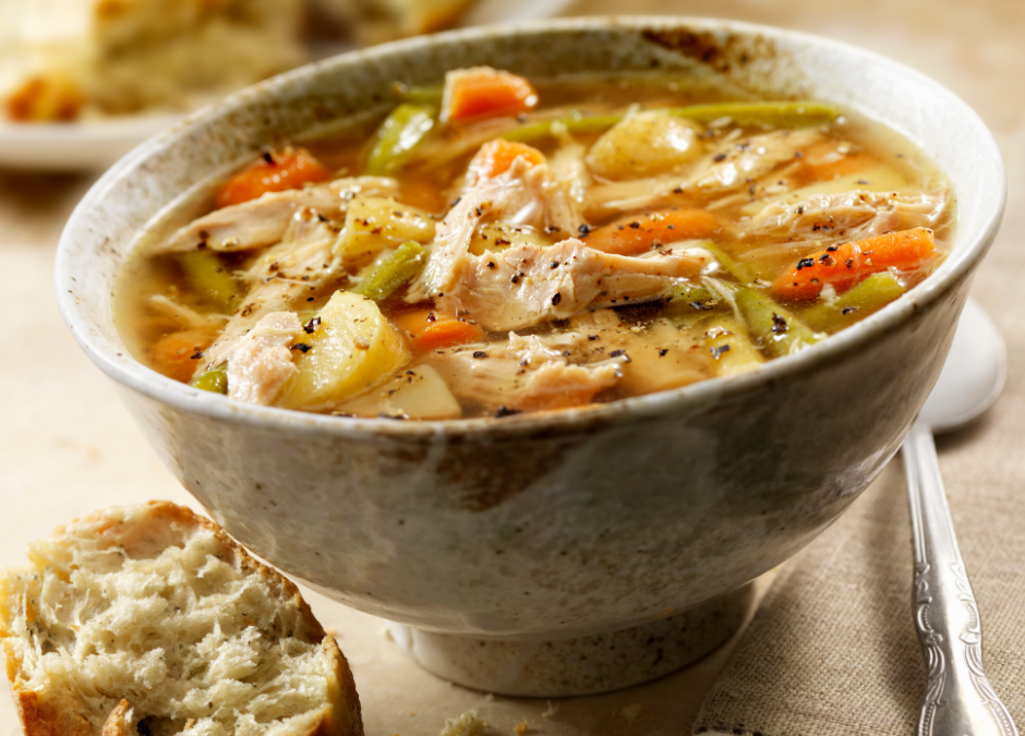 Roast Turkey Carcass Soup