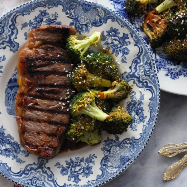 Ginger Glazed Steaks & Broccoli