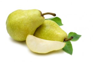 Pears with wedge