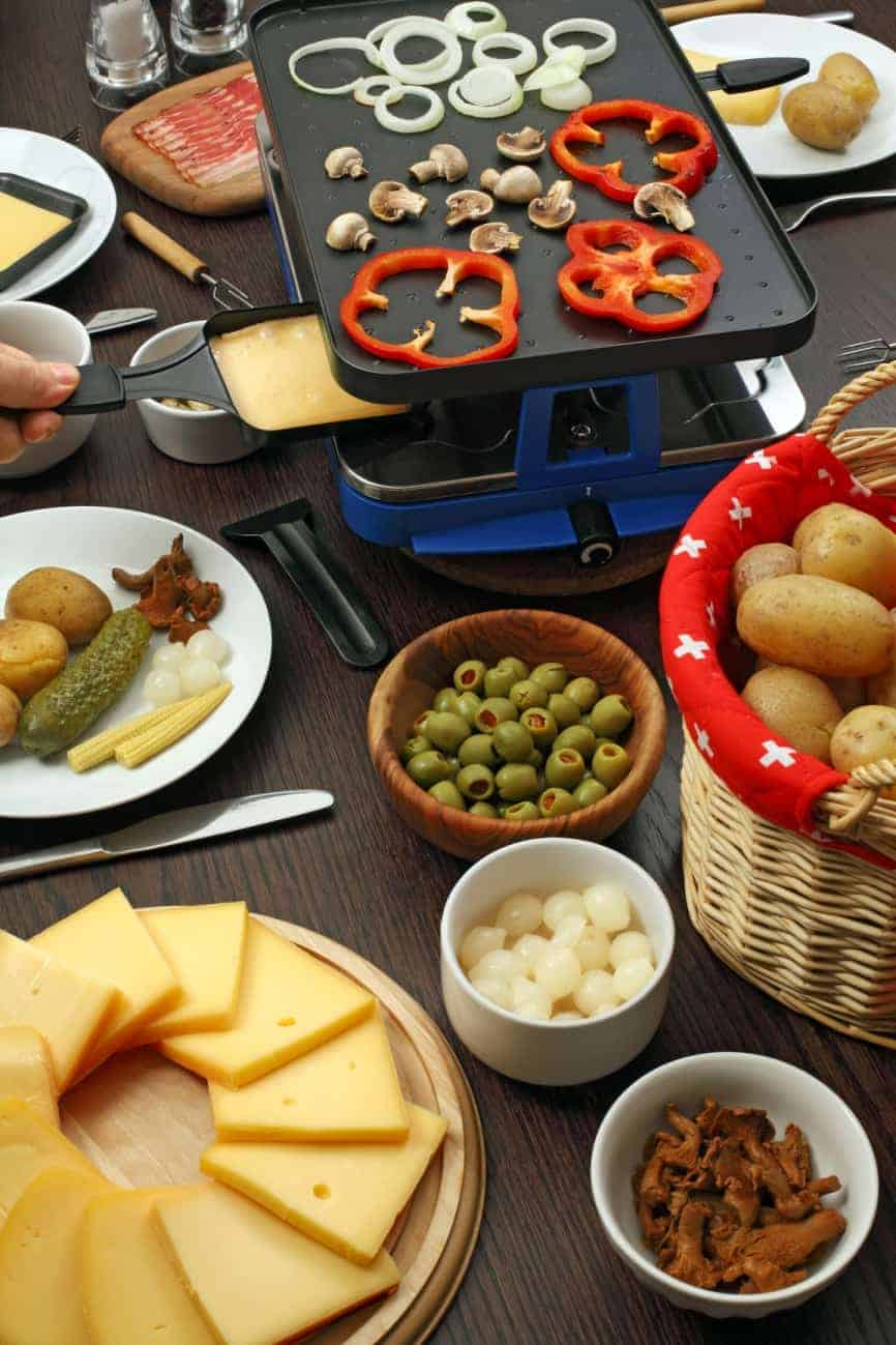 raclette cooking