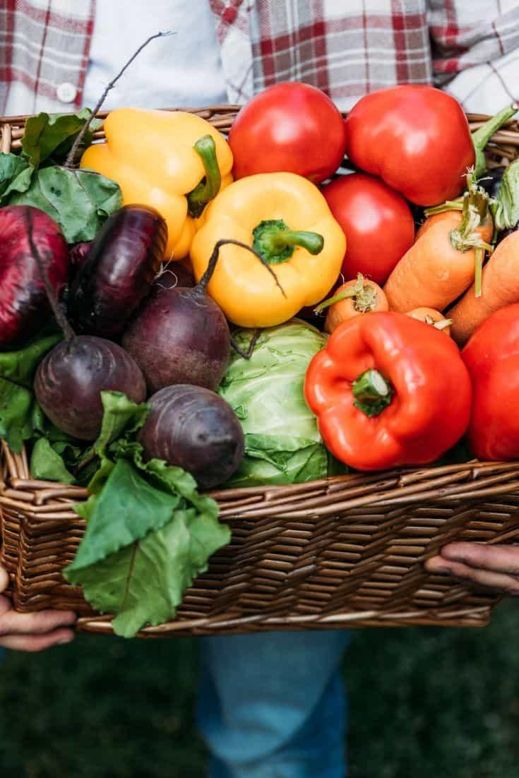summer veggies in a basket