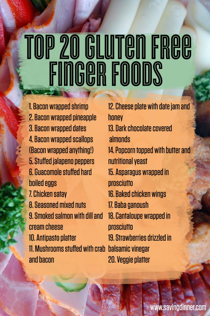 Top 20 Gluten Free Finger Foods from Saving Dinner